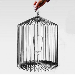APPEARING BIRD CAGE - STEEL, MEDIUM