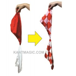 CHECKERS COLOR CHANGING SILKS - (Red-White)