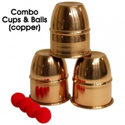 Combo Cups & Balls (Copper) by Premium magic - Trick
