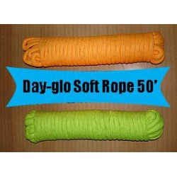 Day-Glo Soft Rope 50′ - Yellow