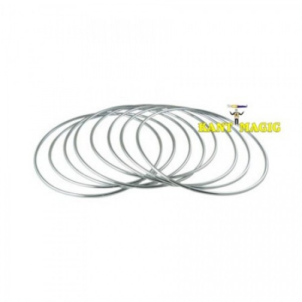 LINKING RINGS - STAINLESS METAL 10 INCH, SET OF 8 - KANT